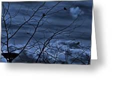 Darkblue Greeting Card by Amr Miqdadi
