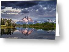 Darkening Skies Over Oxbow Bend Greeting Card
