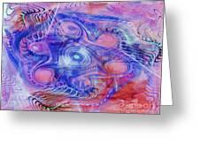 Darkness In The Mind Greeting Card by Deborah Benoit