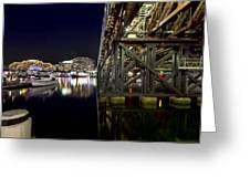 Darling Harbor At Night Greeting Card
