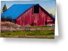 Darst Barn On West Beach Road Greeting Card