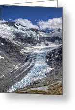 Dart Glacier Above Cascade Saddle Mount Greeting Card