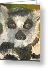 Darth Lemur Greeting Card