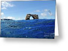Darwin's Arch By Sea Level Greeting Card
