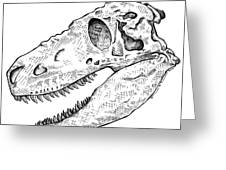 Daspletosaurus - Dinosaur Greeting Card by Karl Addison