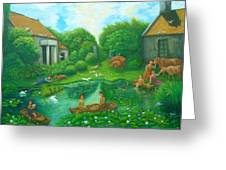Daughters Of The Lotus Pond Greeting Card