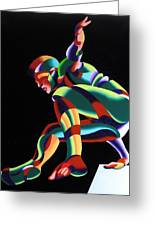 Dave 25-03 - Abstract Geometric Figurative Oil Painting Greeting Card