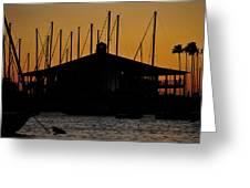 Davis Islands Yacht Club At Sunset Greeting Card