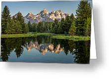 Dawn At Schwabacher Landing Greeting Card