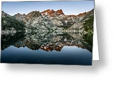 Dawn At Upper Sardine Lake Greeting Card
