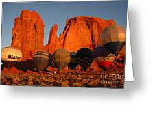 Dawn Flight In Monument Valley Greeting Card