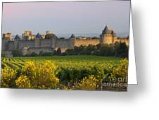 Dawn In Carcassonne Greeting Card