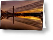 Dawn In The Capital Greeting Card