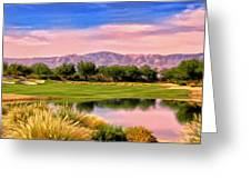 Dawn On The Golf Course Greeting Card