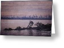 Dawn On The River Neva In Russia Greeting Card