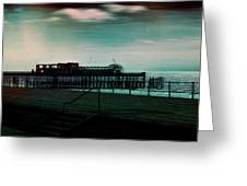 Dawn On The Seafront At Hastings Greeting Card