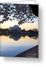 Dawn Over Jefferson Memorial Greeting Card