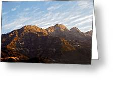 Dawn Vaishno Devi Himalayas Greeting Card