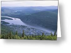 Dawson City And The Yukon River Greeting Card