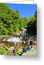 Day At Kent Falls State Park Greeting Card