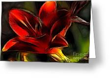 Day Lily Fractal Greeting Card