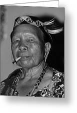 Dayak Woman Greeting Card