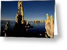 Daybreak On Mono Lake Greeting Card