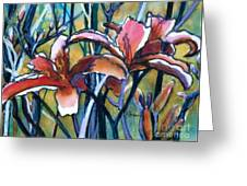 Daylily Stix Greeting Card by Kathy Braud