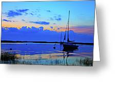 Day's End Rock Harbor Greeting Card