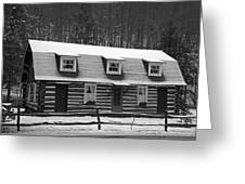 Days Of Yore Log Cabin Greeting Card