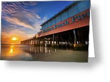 Daytona Sunrise Greeting Card by Ryan Heffron