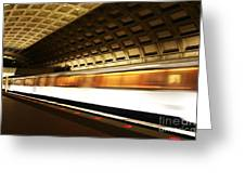 Dc Metro Greeting Card by Heather Applegate