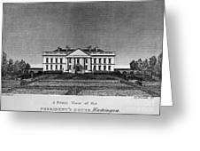 D.c.: White House, 1820 Greeting Card