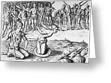 De Bry: Magician, 1591 Greeting Card