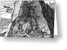 De Bry: Potosi, 1590 Greeting Card