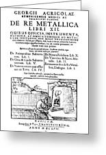 De Re Metallica, Title Page, 16th Greeting Card by Science Source