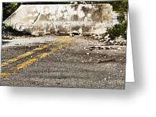 Dead End Street Greeting Card by Blink Images