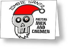 Dead Santa Eats Greeting Card