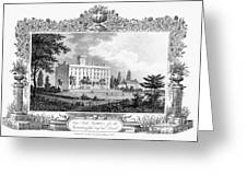 Deaf And Dumb Asylum, 1835 Greeting Card