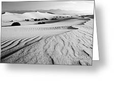 Death Valley Dunes 11 Greeting Card by Bob Christopher