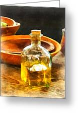 Decanter Of Oil Greeting Card by Susan Savad