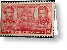 Decatur And Macdonagh Postage Stamp Greeting Card