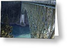 Deception Pass Bridge South Span Greeting Card