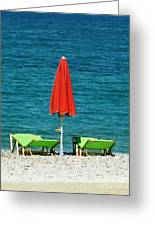 Deck Chairs Greeting Card