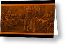 Declaration Of Independence In Orange Greeting Card