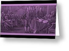 Declaration Of Independence In Pink Greeting Card