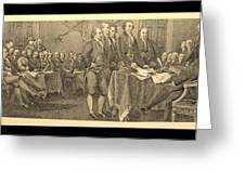 Declaration Of Independence In Sepia Greeting Card