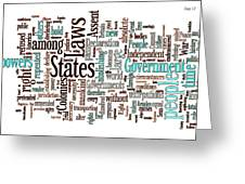 Declaration Of Independence Word Cloud Greeting Card