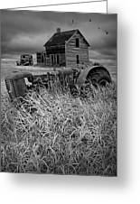 Decline Of The Small Farm No.2 Greeting Card
