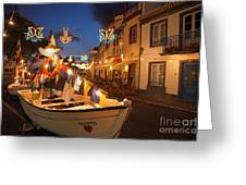 Decorated Fishing Boats Greeting Card
